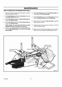 Maintenance  How To Replace The Mower Drive Belt