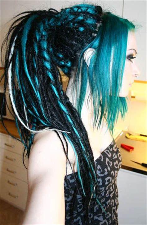 cyber goth tumblr synthetic dreads   dreadlock