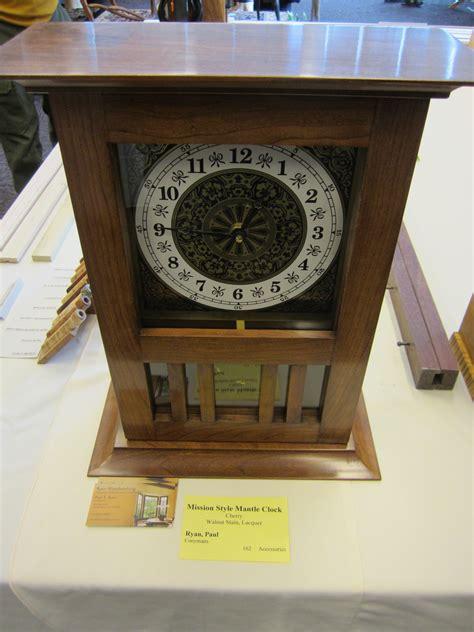 wood work mission mantel clock plans  plans