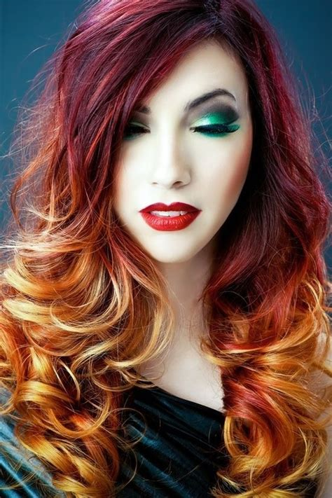 Fall Colored Ombre Hair Perfect For Halloween