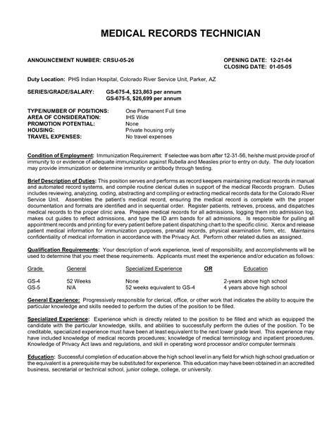 best photos of records clerk resume records