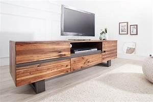 Eck Tv Board : massives baumstamm tv board genesis 160cm akazie massivholz baumkante lowboard mit kufengestell ~ Frokenaadalensverden.com Haus und Dekorationen