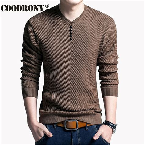 sleeve sweater mens aliexpress com buy solid color pullover v neck