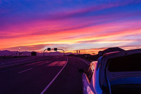 Stop The Car! There Is An Amazing Sunset!  Davd Photography