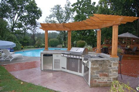 Exterior. Stunning Prefabricated Outdoor Kitchen Islands