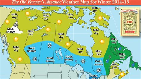 farmers almanac weather forecast cold  snowy