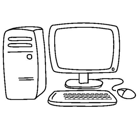 computer  coloring page coloringcrewcom