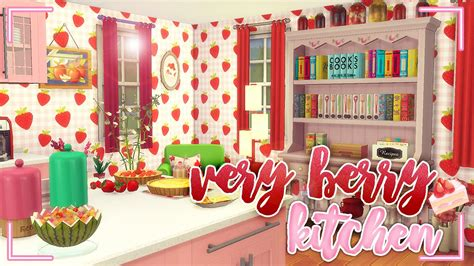 sims  room build  berry kitchen cc youtube