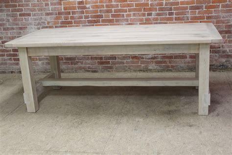 white washed table ls white washed farm table with custom trestle ecustomfinishes