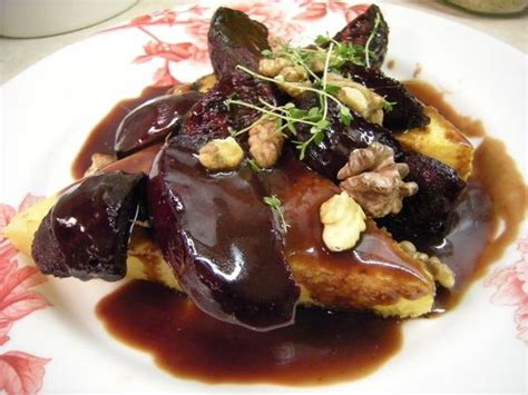 cuisine bordeaux polenta with roasted beets and bordeaux reduction