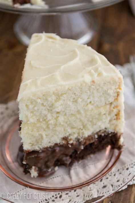 vintage brownie surprise cake crazy  crust