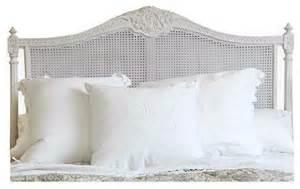 louis xvi country white painted headboard farmhouse headboards
