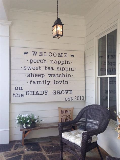 awesome diy front porch sign ideas   home diynownet