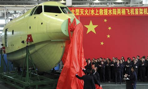 china unveils worlds largest amphibious aircraft