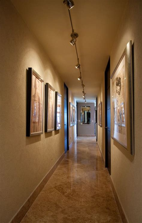 led track lighting ideas for gallery wall