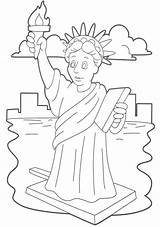 Liberty Statue Coloring Pages Drawing Outline Printable Lady Clip Face Stonehenge Getcolorings Getdrawings Crown Line Worksheet Cartoon sketch template