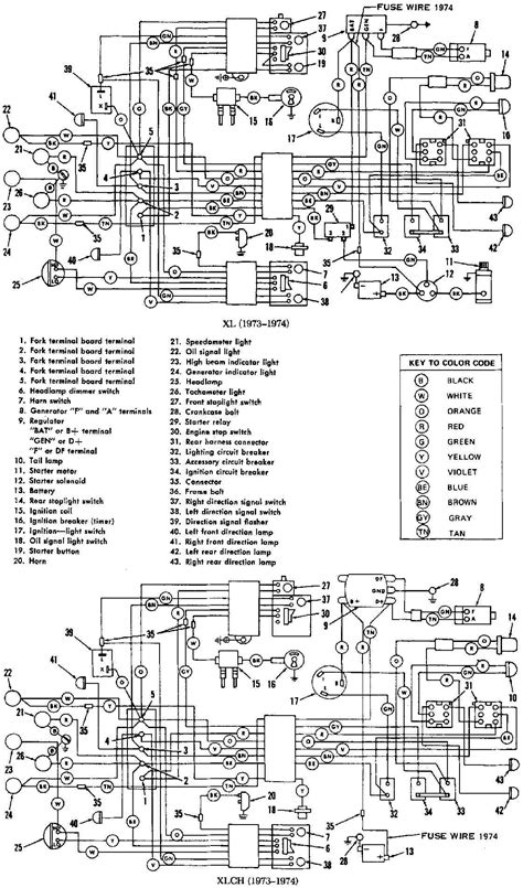 harley   flhs   circuit  wiring