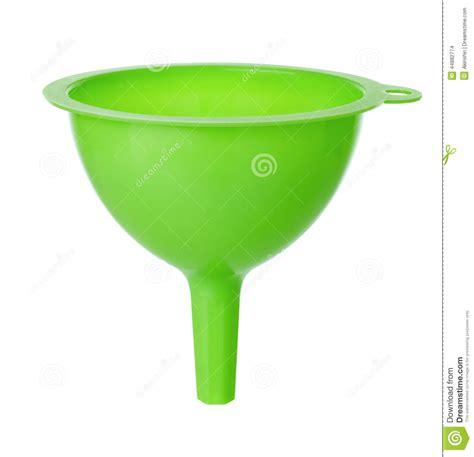 ustensile de cuisine en p entonnoir en plastique vert photo stock image 44882774