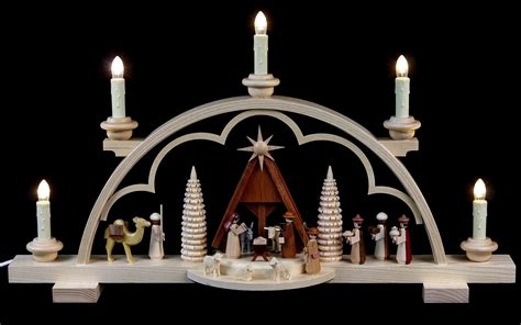 candle arch nativity scene 57 cm 22in by m 252 ller kleinkunst