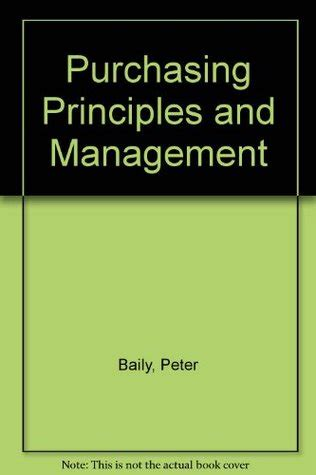purchasing principles  management  peter jh baily