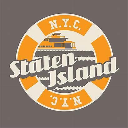 Staten Island Vector Borough Ferry Illustrations Typography