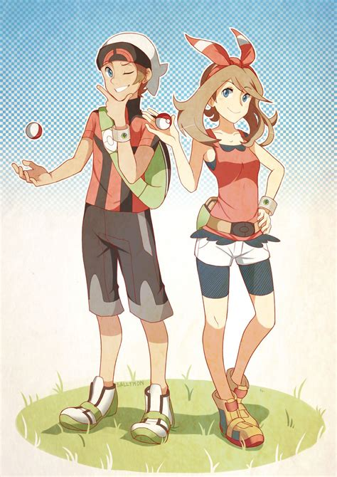 yuuki and haruka brendan and may pokemon pokemon manga anime