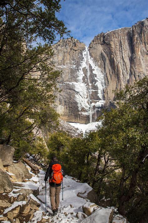 Hiking Upper Yosemite Falls Winter National Park