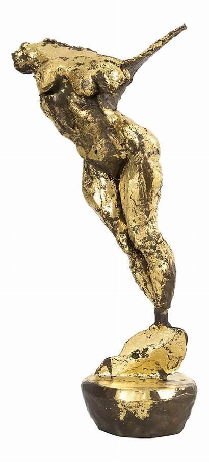 Bronze Flight Movement Sculpture Unafraid Decaso Torso
