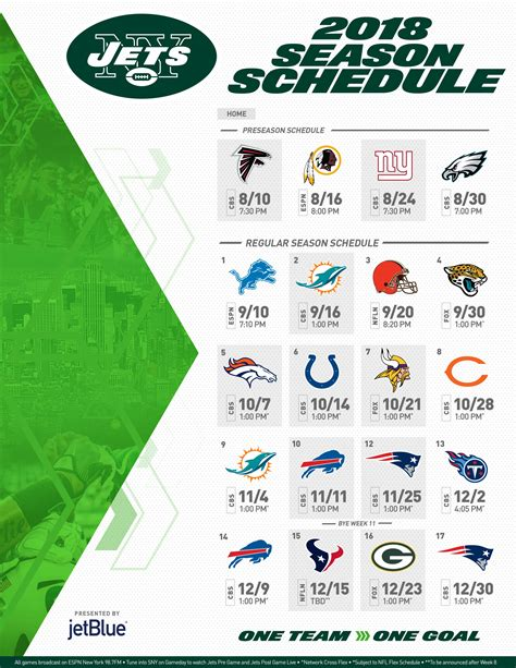 Sunday Ticket Schedule | Examples and Forms