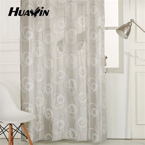 Wholesale Ready Made Embroidery Curtains Cheap Shower