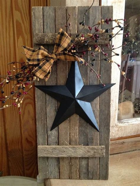 Lathe Wooden Shutter With Star Oldthymecottage Etsy