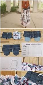 Was Kann Man Aus Einer Alten Jeans Machen : sommerrock was man aus buntem stoff und einer alten jeans alles machen kann diy sewing ~ Frokenaadalensverden.com Haus und Dekorationen