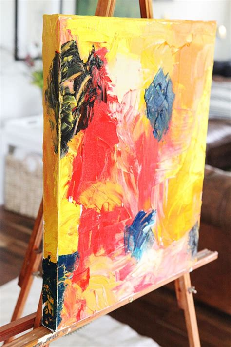 easy abstract painting ideas   totally awesome