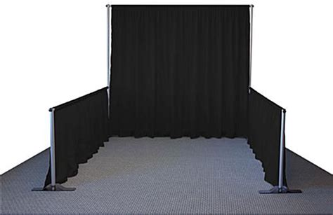 pipe  drape system   booth stands