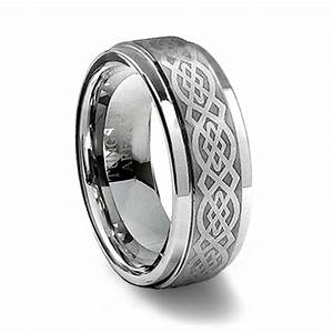 Brushed Tungsten Carbide Celtic Ring Tungsten Affinity