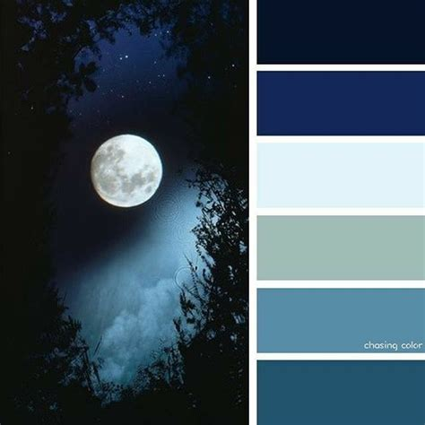 night sky with full moon paint colors in 2019 blue