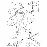 front fender replacement parts for 1989 yamaha moto 4 With image of 1989 moto 4 yfm250w yamaha atv front wheel diagram and parts