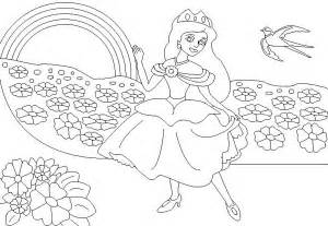 Rainbow Princess Coloring Pages