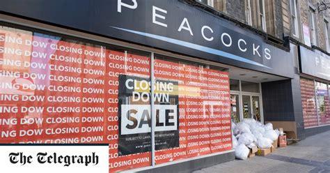 peacocks  edinburgh woollen mill  shut  stores