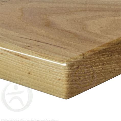 natural wood desk top uplift natural pecan solid wood desktop the human solution