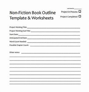 8 useful book outline templates to download sample templates With writing a book template word