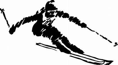 Ski Clipart Clip Skiing Mountain Alpine Cliparts