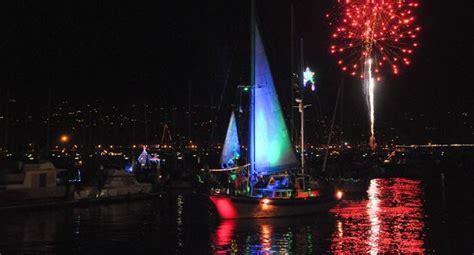 Santa Barbara Parade Of Lights by Boats Illuminate The With Parade Of Lights Along