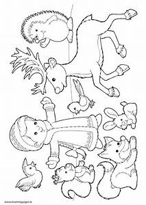 Free coloring pages of winter animals