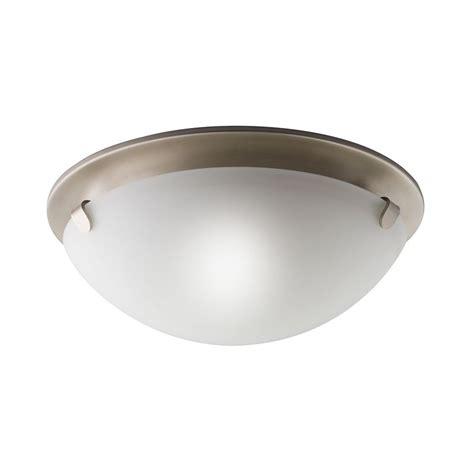 brushed nickel flush mount ceiling light shop kichler lighting 13 in w brushed nickel ceiling flush