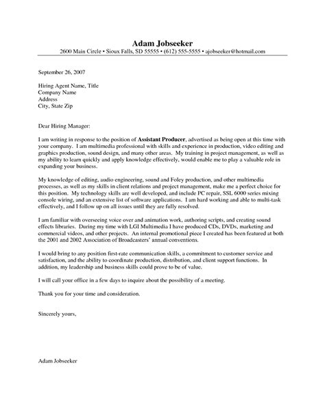 Entry Level Assistant Cover Letter by Entry Level Cover Letter Exle Cover
