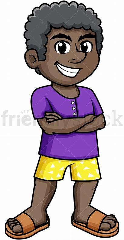 Clipart Summer African American Dressed Cartoon Clip