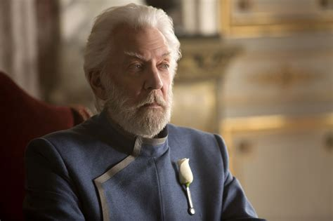 donald sutherland president snow the hunger games mockingjay part 1 donald sutherland as