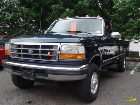 Ford F250 4x4 by 1996 Tourmaline Green Metallic Ford F250 Xlt Crew Cab