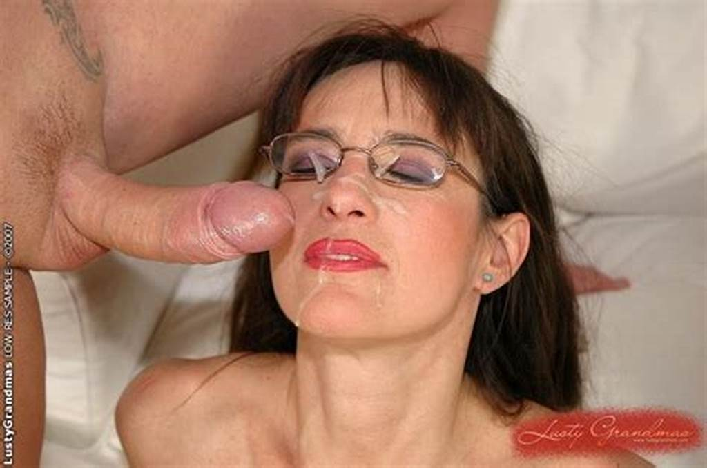 #Mature #Grandma #With #Glasses #Gets #Big #Cock #And #Facial